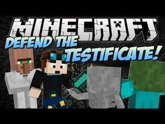 Minecraft | DEFEND THE TESTIFICATE! (Don't Let Him Die!) | Minigame Map [1.7!] - YouTube