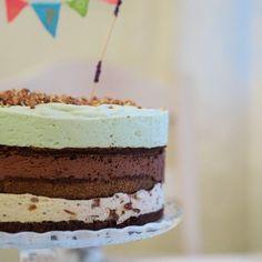 Suklaamousse-päärynäkakku (glut.) Vanilla Cake, Tiramisu, Cooking Recipes, Baking, Ethnic Recipes, Desserts, Cakes, Food, Tailgate Desserts