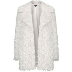 Topshop Urban Shaggy Faux Fur Coat (€85) ❤ liked on Polyvore featuring outerwear, coats, jackets, coats & jackets, topshop, fake fur coats, faux fur coat, long sleeve coat, imitation fur coats and topshop coats