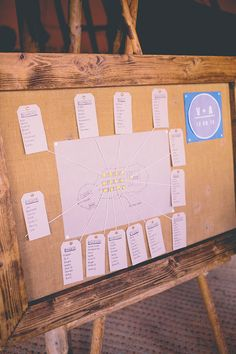 Hessian Frame Luggage Tag Table Plan Seating Chart Chilled Festival Lavender Wedding http://storyandcolour.co.uk/
