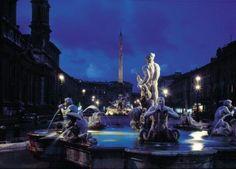 Fontana del Moro, Piazza Navona, Rome Italy