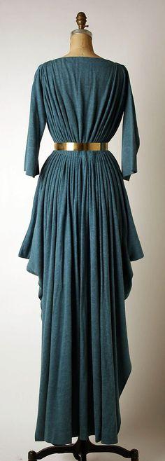 "ephemeral-elegance: "" Belted Evening Dress, late 1960s–mid-1980s Madame Grès """