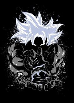 Dragon Ball Super - Goku Master Ultra Instinct Dragon Ball Super - Goku Master Ultra Instinct Gallery quality print on thick / metal plate. Dragon Ball Gt, Art Anime, Manga Anime, Anime Goku, Goku Wallpaper, Dragonball Wallpaper, Animes Wallpapers, Hologram, Anime Girls