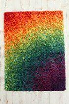 Rainbow Shag Rug  #UrbanOutfitters