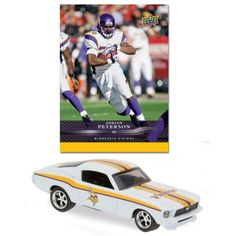 2008 Minnesota Vikings 1:64 1967 Mustang Fastback with Adrian Peterson Card - Version B