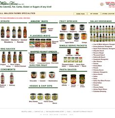 Walden Farms! ZERO CALORIE sauces, syrups, dressings, fruit spreads, mayonnaise and peanut spreads!! TOTALLY AWESOME! These products and finding out I can have nearly 800 calories a day on VLCD have revolutionized the HCG diet for me!!!