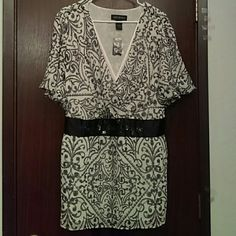 Shirt Beautiful dress shirt. Has a tie back beaded waist size 22/24 Lane Bryant Tops Blouses
