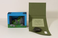Easter Island Theater Book by Spring Leaf Press. 2011. Five hand painted frames. Wrapper covered in Iris book cloth; CAVE paper closure.