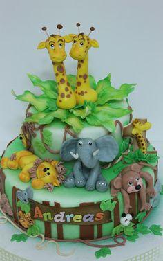viorica's cakes: Animalele junglei