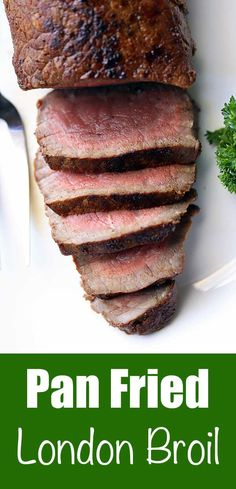 An easy London Broil recipe that highlights the bold, beefy flavor of top round steak and requires very little work. Just make sure you don't overcook it! via @healthyrecipes