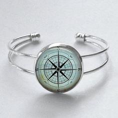 Compass Bracelet Nautical Jewelry Mariner's by MissingPiecesStudio, $15.95
