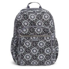 0fd2bbf231a8 Vera Bradley - Iconic Campus Backpack - Charcoal Medallion