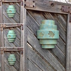 Sconce Wall Sconce Swimming Fish five tier by CustomCutLighting