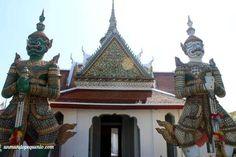 Fachada exterior de Wat Arun, el templo del Amanecer #Bangkok #Tailandia #Thailand #Asia