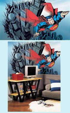 Superman Giant XL Wall Mural - 6 x 10 feet - Wall Sticker Outlet