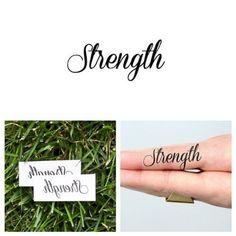Tattify Strength Temporary Tattoo - Lift Me Not (Set of 2)