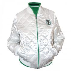 Celtics Womens Reversible Satin Jacket