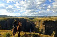 Maletsunyane Falls, Semonkong, Lesotho. Photo by Joe Albus via Semonkong Lodge