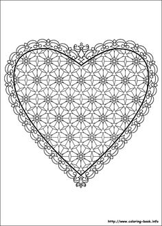 54 Valentine's Day printable coloring pages for kids. Find on coloring-book thousands of coloring pages. Fish Coloring Page, Heart Coloring Pages, Horse Coloring Pages, Adult Coloring Pages, Coloring Book, Printable Heart Template, Free Printable, Mandala Printable, Valentines Day Coloring Page
