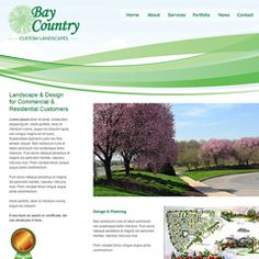 Web design for a Maryland landscape company bay country