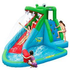 Action Air Crocodile Water Slide And Pool | Target Australia