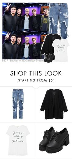 """BBC R1 Breakfast w/ 5SOS and Nick Grimshaw"" by amberamelia-123 ❤ liked on Polyvore featuring One Teaspoon, Monki and Sundry"