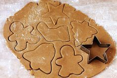 Gingerbread Cookies - slightly chewy, spiced but not too spiced, and perfect for rolling out and cutting into whatever fun shapes you choose. Christmas Treats, Holiday Treats, Christmas Cookies, Holiday Recipes, Christmas Gingerbread, Cupcakes, Cupcake Cookies, Sugar Cookies, Baking Recipes