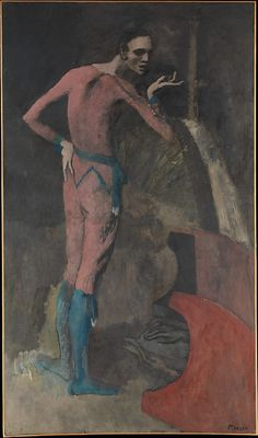 Pablo Picasso  -  The Actor, 1904-5, Oil on canvas, 77 1/4 x 45 3/8 in. The Metropolitan Museum of Art.
