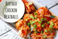 Buffalo chicken plays a star role in this meatball recipe. You could even use these easy meatballs to make meatball subs. Serve with toothpicks as finger food, or as dinner.