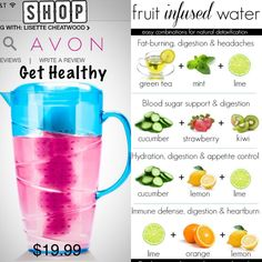 Avon has the perfect water infused pitcher for all your healthy drinks. Shop www.youravon.com/blenc