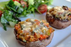 These portobello pizza's are allowed every day of the week.