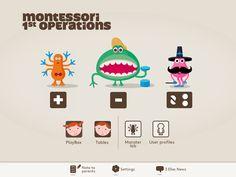 Primeras operaciones con montesori