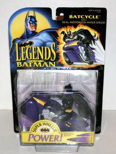 1994 Kenner 'Legends of Batman' Batcycle with Hyper Speed Unopened | eBay