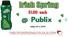 Irish Spring Body Wash Only $1 @ Publix starting 3/16 or 3/17/16. Print your coupons to hold for this upcoming deal. Great price to stockup!*  Click the link below to get all of the details ► http://www.thecouponingcouple.com/irish-spring-body-wash-only-1-publix-starting-317/ #Coupons #Couponing #CouponCommunity  Visit us at http://www.thecouponingcouple.com for more great posts!