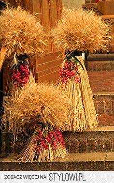 Autumn landscapes to decorate the house 50 valuable ideas Fall Crafts, Holiday Crafts, Holiday Decor, Thanksgiving Decorations, Halloween Decorations, Fall Decorations, Wheat Centerpieces, Fall Arrangements, Deco Floral