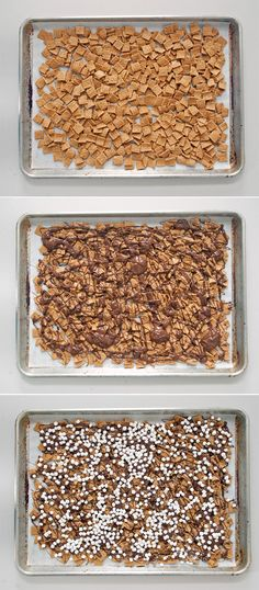 S'mores Snack Mix  mine is made with mini dehydrated marshmallows.  Great snack @Carey Torrence