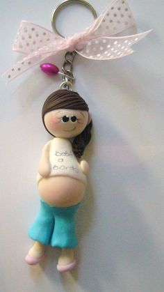 Llaveros Recuerdos Baby Shower Pasta Francesa Flexible - $ 17.00