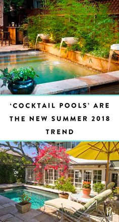 Cocktail Pools Are the Trend Summer 2018 Needed Cocktail Pools Are the Trend Summer 2018 Needed Small Backyard Pools, Small Pools, Backyard Patio, Backyard Ideas, Spool Pool, Outdoor Spaces, Outdoor Living, Kleiner Pool Design, California Backyard