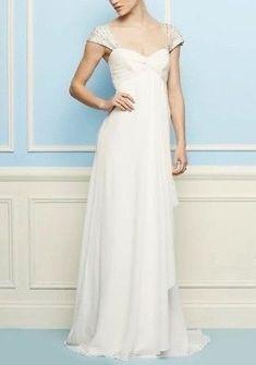 Nicole-Miller-Olivia-Wedding-Dress-Vintage-Style-Silk-Gown-NWT-Retail-1695