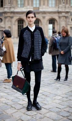 Robe cocktail ballonnée pas cher :STREET STYLE DU PRINTEMPS 2013: Fashion semaine de Paris