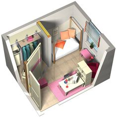 A huge bedroom greatly disigned too!