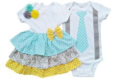 Perfect Pairz Boy Girl Twin Outfits Grace and Grayson by USA Made Outfit Boy Girl Twin Outfits, Twin Baby Clothes, Boy Girl Twins, Kids Outfits, Babies Clothes, Baby Boy, Going Home Outfit, Kids Fashion, Rompers