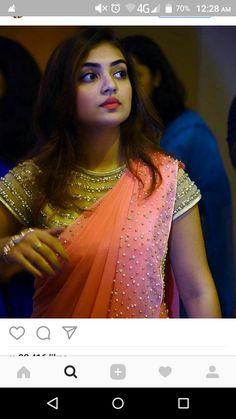 Saree Blouse Neck Designs, Saree Blouse Patterns, Fancy Blouse Designs, Bridal Blouse Designs, Trendy Sarees, Stylish Sarees, Fancy Sarees, Designer Sarees Wedding, Saree Dress