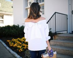 bow back top // spring summer