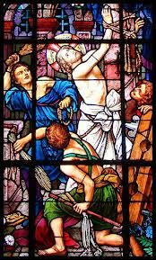 From The Passion: The flagellation, meaning the scourging.