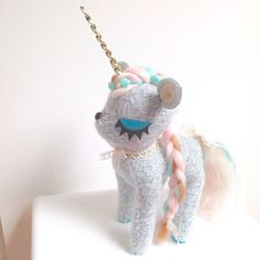 Unicorn Plush by MisfitMenagerie on Etsy