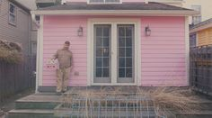 This clip takes you through the New York home of musician Stephin Merritt, frontman of indie pop band The Magnetic Fields. New York Homes, Pink Houses, Then And Now, Exterior, Tours, Interior Design, Architecture, Places, Arquitetura