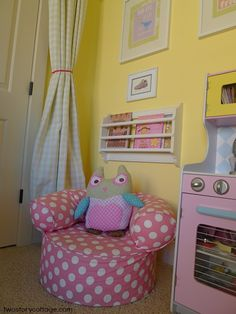 Two Story Cottage: An Eclectic, Sweet Big Girl Bedroom {Lacey's Room, Part I}