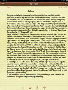 So if you guys were anything like me you were a bit( a lot) unhappy by the ending of Blood Of Olympus. So I took it upon myself to write a happy ending. Feel free to staple this to the backs of your books! Percy Jackson Head Canon, Percy Jackson Books, Percy Jackson Fandom, Solangelo, Percabeth, Leo And Calypso, Trials Of Apollo, Leo Valdez, Rick Riordan Books