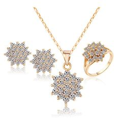 Ring SIZE 7 Brand African Jewelry Set Necklaces & Pendants Earrings Rings Brincos Bijoux Women Bijuterias Fashion Jewellery Set 15S18-78